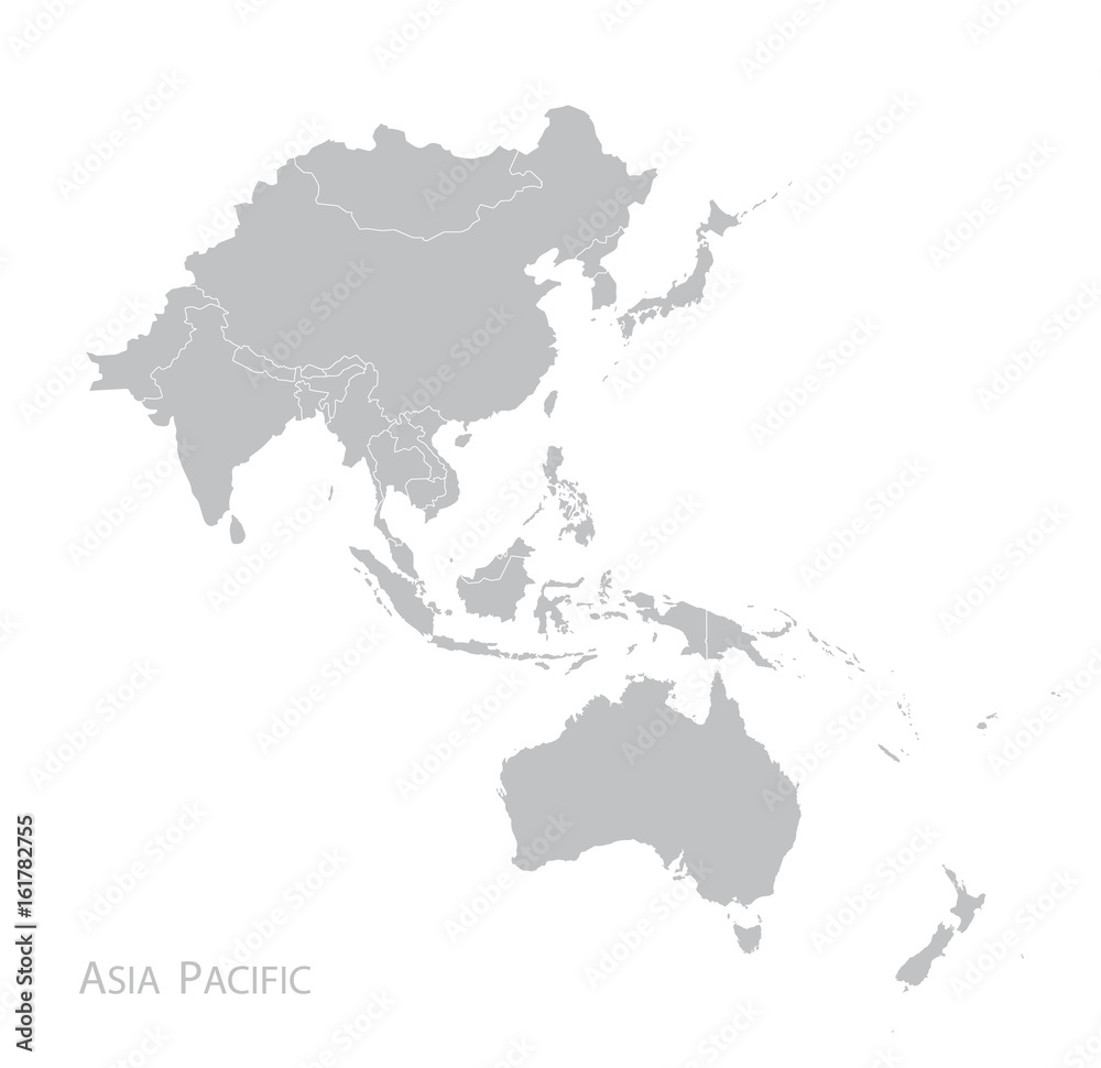Fototapeta Map of Asia Pacific