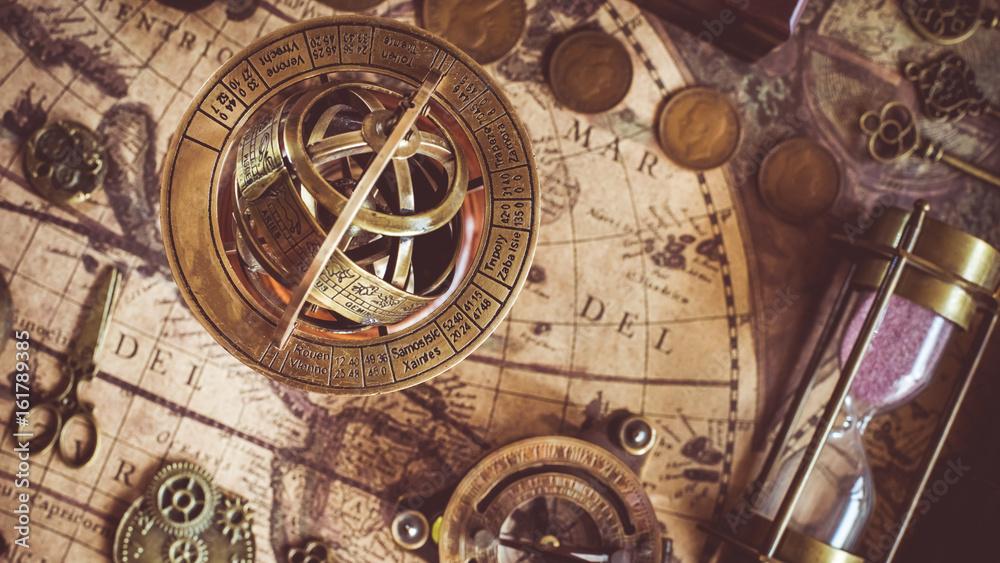 Fototapety, obrazy: Armillary Sundial Zodiac Spherical Astrology