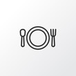 Plate Icon Symbol. Premium Quality Isolated Cutlery Element In Trendy Style.