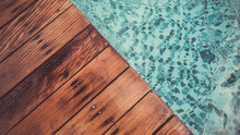 Swimming Pool And Wood Flooring