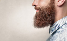 Close Up Of A Man With Ginger Beard