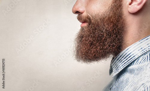 Carta da parati Close up of a man with ginger beard