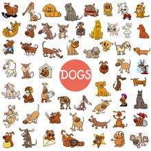 Cartoon Dog Characters Large Set