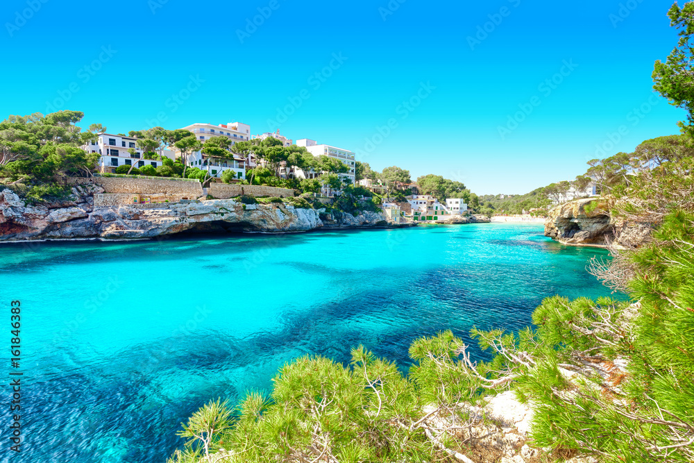 Fototapety, obrazy: Cala Santanyi, Mallorca, Majorca, Spanien, Mittelmeer