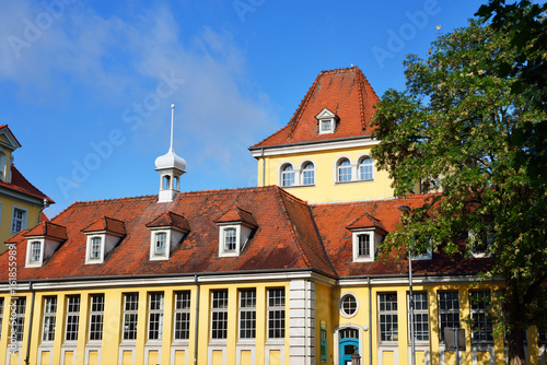 In de dag Noord Europa An old historic building in Heford, Germany on a clear sunny day