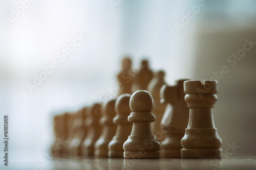 wooden chess on board Poster