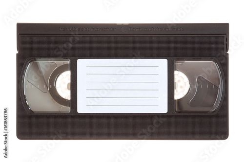 Video cassette isolated on white background Billede på lærred