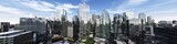 Fototapeta City - Beautiful view of the skyscrapers, modern city landscape, 3d rendering