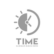 Time And Alarm Clock Logo Design Vector