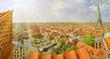 canvas print picture - Lüneburg im Sommer - Panorama