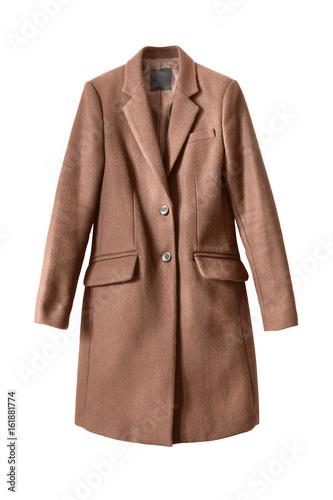Obraz na plátne Brown coat isolated