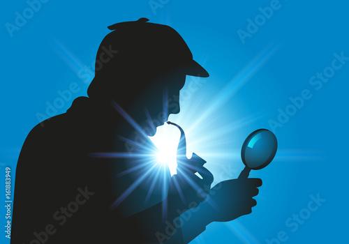 Photo  Sherlock Holmes - détective - enquête - symbole -personnage - loupe