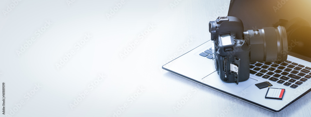 Fototapety, obrazy: Modern digital DSLR camera. Photography concept.