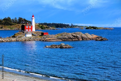 Платно Fisgard Lighthouse National Historic Site along the Pacific coast near Victoria,