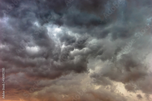 Cloudy sky texture Canvas Print