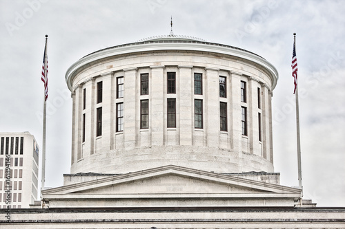 Fotografie, Obraz  Close up of the cupula at the Ohio Statehouse in Columbus, OH