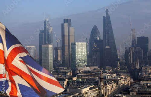 Recess Fitting London Brexit: UK flag and London