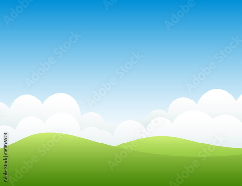 Hills and sky. Vector illustration.
