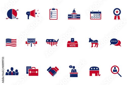 Fotografie, Tablou  Election topic icon