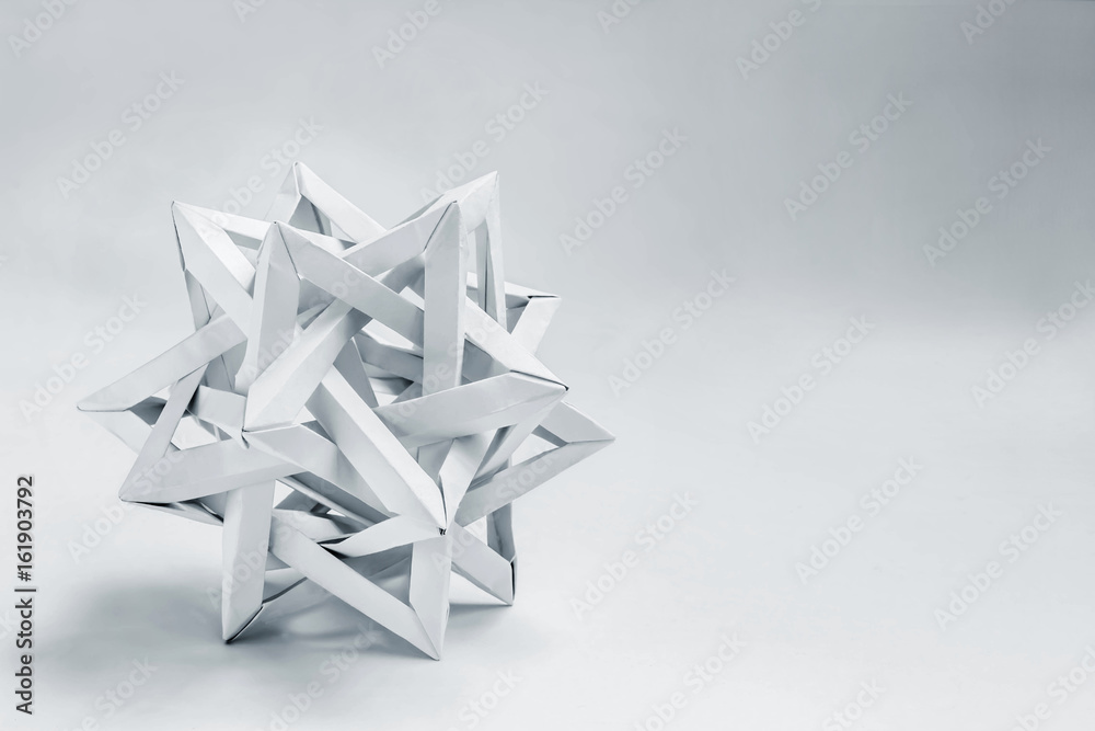 Fototapety, obrazy: tetrahedron made of paper