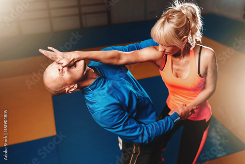 Canvas Prints Martial arts Women self defense technique, martial art