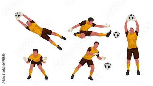 goal keeper set Fototapete