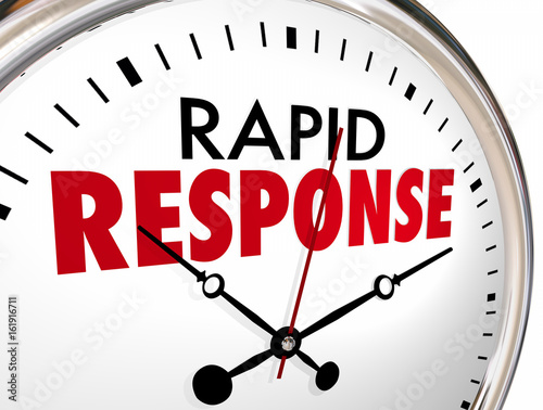 Rapid Response Clock Quick Fast Reaction 3d Illustration Canvas Print