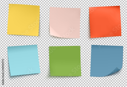 Multicolor post it notes Slika na platnu