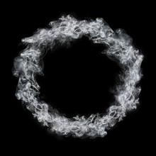 Circle White Smoke Frame Isola...