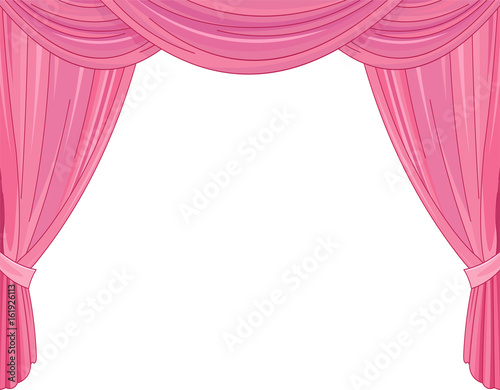 Tuinposter Sprookjeswereld Pink Curtains