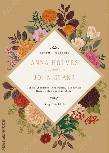 Canvas Print Wedding invitation