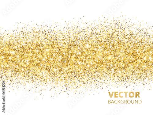 Obraz Sparkling glitter border isolated on white. Festive background w - fototapety do salonu