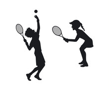 Male And Female Tennis Players...