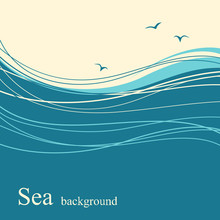 Sea Wave Background For Text