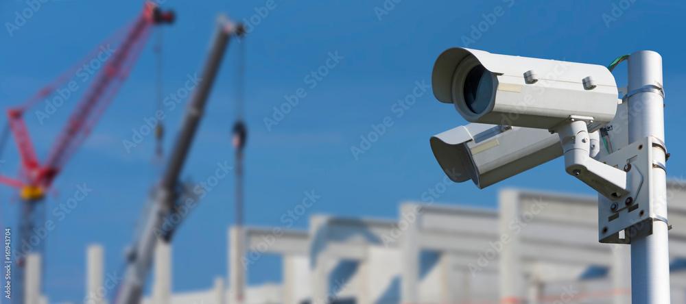 Fototapeta Baustellenüberwachung