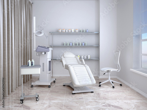 Fotografía  Room with equipment in the clinic of dermatology and cosmetology