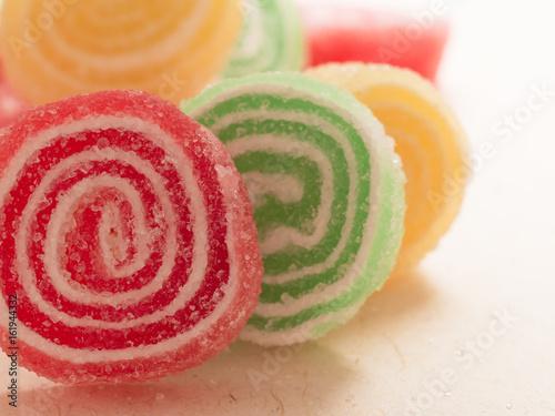 Foto op Aluminium Snoepjes candies