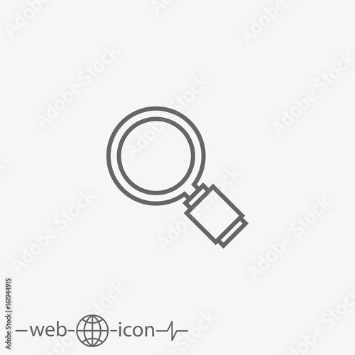 Fototapeta magnifying glass obraz na płótnie