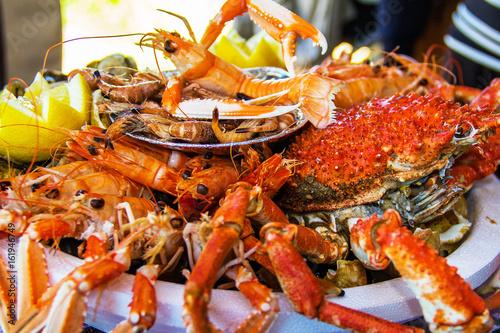Garden Poster Seafoods Plateau de fruits de mer