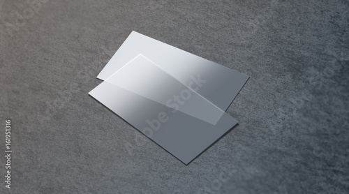 Blank Plastic Transparent Business Card Mock Up 3d Rendering Clear Pvc Namecard Mockup On