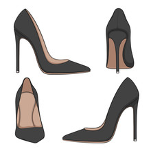 Female Black Classic Shoes Wit...