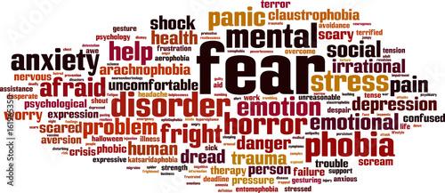 Fotografie, Tablou Fear word cloud concept