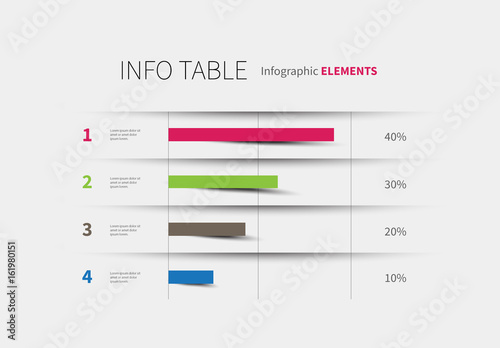 infographic table with chart layout  buy this stock