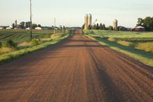 Rural Minnesota Road With Farm...