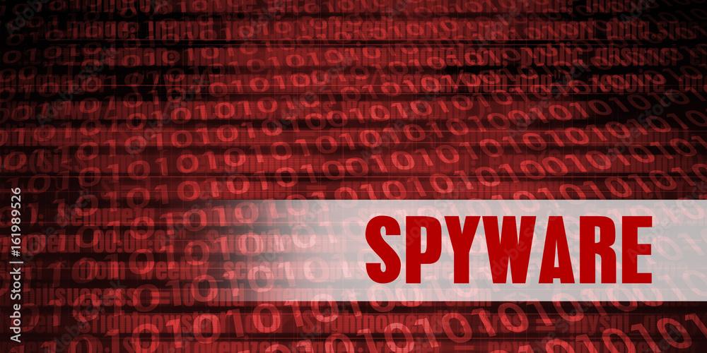 Fototapeta Spyware Security Warning