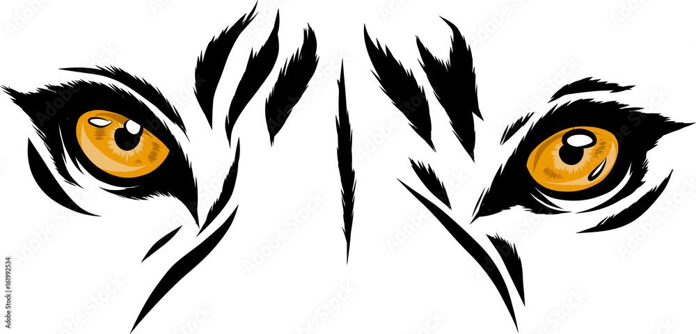 Fototapeta occhi tigre