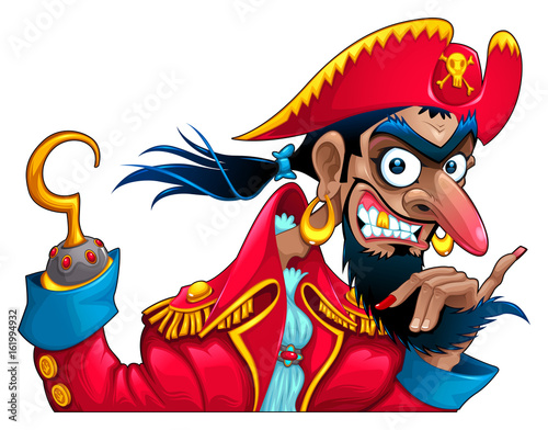 Poster Chambre d enfant Funny pirate character