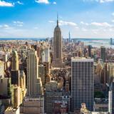 Fototapeta Nowy Jork - Blick auf Manhatten in New York City, USA