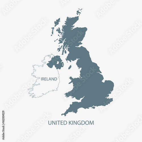 UK MAP Wallpaper Mural