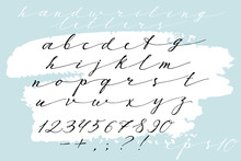 Calligraphic Hand Drawn Font. ...